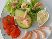 Salade d'avocat crevettes
