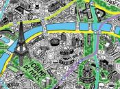 très belle carte Paris dessinée main