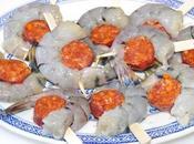 Crevettes chorizo