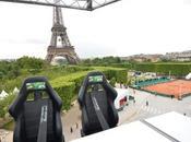 dressé mètres au-dessus Paris avec Perrier