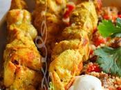 ~Brochettes marocaine salade couscous~