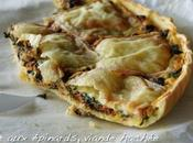 Tarte épinards, viande hachée fromage raclette