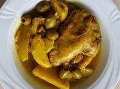 Tajine Poulet olives, citron confit safran Chicken, olive, preserved lemon saffron tagine