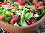 Salade {quinoa-mesclun-framboises}
