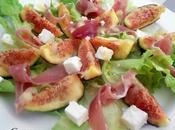 Salade figue, jambon fêta