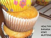 Muffins santé banane kiwi healthy banana muffins saludables