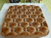 gâteau hyperprotéiné poire coco cacao flocons d'avoine (diététique, sans gluten, oeuf beurre riche fibres)