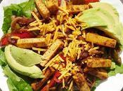 Fajitas tofu avec tortilla version salade