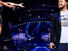 Photos: Justin Timberlake était scène concert Taylor Swift!