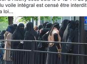 racisme cadre prise main dans niqab