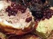 Pintade farcie foies volailles airelles, pommes darphin, flan haricots verts poêlée champignons
