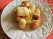 Radis noirs, pommes terre oignon confits four (Vegan)