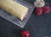 Bûche Noël Framboise chocolat blanc