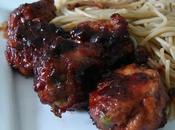 Boulettes poulet sauce soja