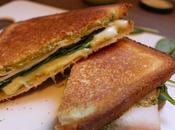 Recette Sandwich pesto/jambon/mozza/épinards