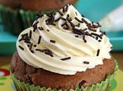 Cupcake chocolat pépites topping crème coco (sans Œufs lait)