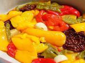 Poivrons confits l'huile d'olive, thym