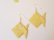 boucles d'oreilles poissons origami, tuto