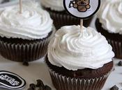 Cupcake chocolat (lait fermenté) glaçage crème coco