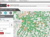 Carte pistes cyclables Lyon