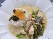 Blanquette poulet asperges vertes morilles