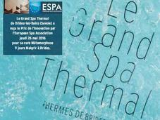 THERMALISME Brides-les-Bains Lauréat Awards l'ESPA (European Spas Association)