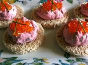 canapés tarama oeufs saumon