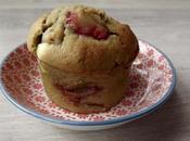 muffin matcha-fraise-chocolat blanc