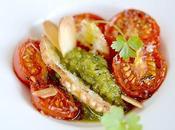 Petites tomates confites crème basilic parmesan