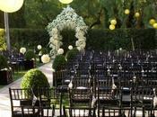 Idées déco pour mariage chic noir, blanc vert