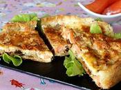 Tarte fenouil, truite fumée, chèvre tomates séchées