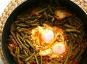 Cocotte haricots verts oeufs poulet