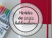 Bujo inspirations pages hebdomadaires