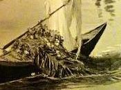 ange rame d'une gondole funèbre gerbe endeuillée