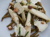 salade haricots, chèvre sec, poire noisettes