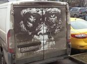 Moscou transforme saleté véhicules oeuvres d'art