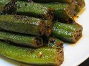Bhindi okras/gumbo sautées sautéed okras