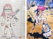 L'illustrateur Thomas Romain transforme dessins fils chefs-d'oeuvre