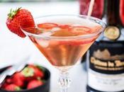 Cocktail Calva fraise avec plus visite distillerie Calvados Château Breuil.