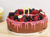 Drip cake chocolat fruits rouges sans gluten pour birthday party tutty frutty