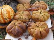 Petits pains briochés courge Butternut, farine d'épeautre T150, forme citrouilles Pour Halloween ,healthy,vegetarien
