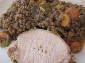 rôti porc lentilles mijoteuse