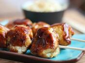 Brochette boulettes poulet sauce Yakitori