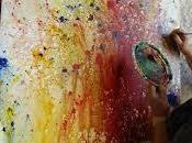 journée intuitif peinture gestuelle Essaouira