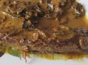 Filet mignon/champignons crème épicée