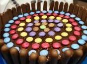 gâteau finger smarties chocolat