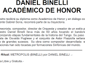 Honneur Daniel Binelli pour l'avant-dernier Plenario l'affiche]