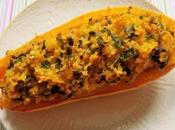 Courge Sweet Potato farcie poireaux, blettes, lentilles boulgour (Vegan)