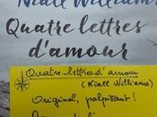 Quatre lettres d'amour