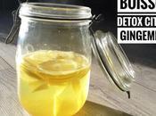 boisson détox citron gingembre
